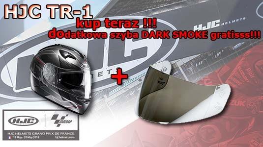 Do każdego zakupionego kasku HJC TR1 dajemy szybę DARK SMOKE